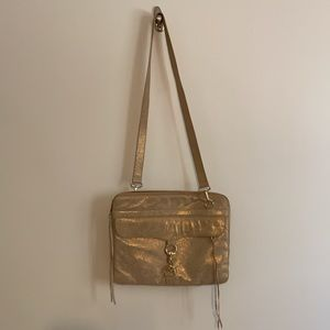 Rebecca Minkoff Gold Embossed Laptop Bag